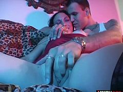 After coming from the bar for another drink They start fucking hard He thrusts hard and chokes her until he cums all over her face