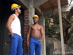 Ramon Lima and Francisco Macedo are muscular Latino construction workers. These guys are built for heavy labor and they fuck just that way. Ramon fucks Francisco as if he has nothing else to think about and Francisco is up for the challenge. Before long, Francisco shows Ramon that hes got some power behind his punch as well and takes the ass thats just been driving some prime beef up his own backside. Its a power fuck that leaves men drained and splattered in cum.