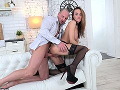 Slim Russian chick Hazel Dew is in the mood for dirty anal sex