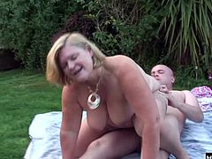 Living in a rural community, theres a limited choice, but she finds the perfect match a few blocks down at Masons house. Hes a bald guy with just the personality and shape of cock she likes, so she cant stay away, and even takes his dick right on his lawn