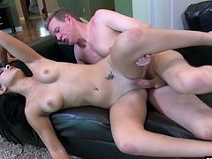 Mandy Sky is horny and bad Found masturbating outside a house She then goes inside to get fucked by a huge dick She takes it like a good girl until she swallows all the dick juice