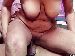 Mature blonde and brunette getting fucked hard