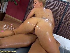 extreme hot lesbian slippery nuru massage sex lesson with Victoria Sweet and Carla Cox