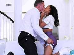 sexy amia miley cuckolds her husband