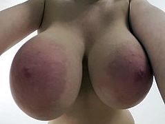 Massaging, Kneading F Cup Boobs, Tittyfuck, Cumshot