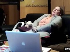 Hidden camera in our living room. As so often a masturabtion quickie of my BBW mom after watching porn on her laptop.