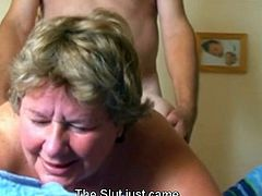 Mature fat swinger getting done