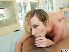Bootyful white chick Jada Stevens gets her pussy licked and fucked by BBC