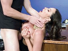 Exclusive sex at the office for needy Ariella Ferrera,