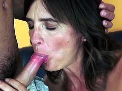 Grandma slut gets facial