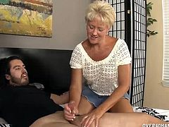 This guy has been using a liquid for hair and he realizes it is his aunts lube. But what does she use lube