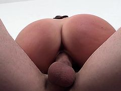 This mature lady has perfect natural boobs and a nice, firm round ass. She can deepthroat a big cock like no other. Look at her work the shaft and tip with her mouth. She really wants that cum so bad right now. She bounces up and down on his dick.