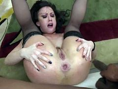 Jennifer White Getting Her Ass n Pussy Dug the FUCK OUT by Black Dicks