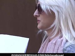 BITCHES ABROAD - Pussy licking and blowjob with blondie