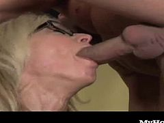 Not to mention in the same physical shape that she was back in her youth. You could say Ninas still in her sexual prime and still pumping the cum out of many cocksmen today.