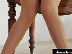 Gorgeous Jelena Jensen Does A HOT Vintage Pantyhose Show!