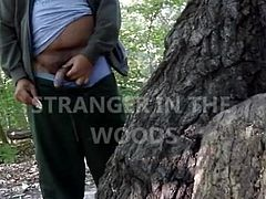 Soldier and Stranger in the Woods