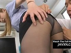 Asian Teen Gets Fucked At The Office