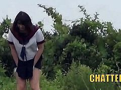 Japanese Teen Student Outdoor Public Pissing Spycams