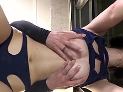 Pretty Teen Hazuki makes uncensored scene which is not allowed in Japan, lovely pert tits and bubble butt. She gets her swimsuit cut for penetration. 1000 Jav movies in members 500 Exclusive Asians updated daily.