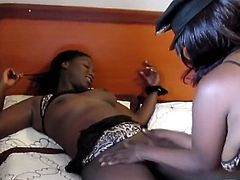 Juicy lesbians giving a good pussy smash to each other