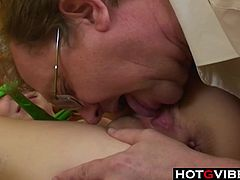 Redhead European Teen Fucks Old Man