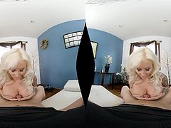 Busty chick Jarushka Ross gets fucked by a horny friend in POV
