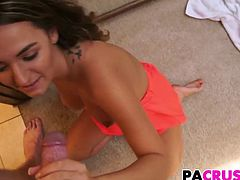 Sweety Charlotte Gets A Nail Lesson By Stepfather