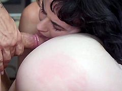 In this fantasy, Derrick has a beautiful redhead and a black-haired beauty to fuck. Alex is taunting Olive, as well as sucking his dick every few minutes. This is a kinky scene, for anyone who enjoys dirty family roleplay.