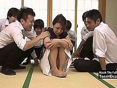Oriental mother i'd like to fuck receives group-fucked jav.menacing hd