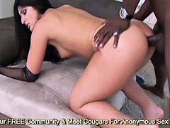 Perfect ass Luscious Lopez ass fucked by veiny dong and gets her cute face jizzed
