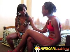 Epic ebony chick duo was getting a bit too friendly today which culminated in a sensual lesbian sex with plenty of tongue action