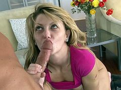 Beautiful young slut Staci Silverstone sucks cock eagerly