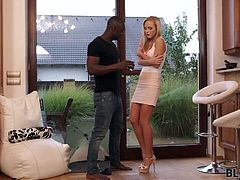 He was also super irresponsible! Once again he forgot to give her the house keys and she was freezing outside in the rain with only a short dress on her body. When she came inside she knew that only his warm arms and his big black cock can warm her from inside.