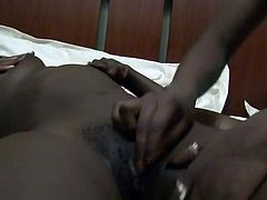 African lesbian amateur couple with amazing tits and booty have sex in bedroom and shower on this real homemade sex tape.