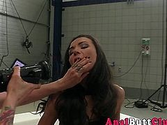 Domina gets ass toyed after anally fingering les submissive