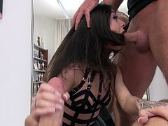 Gorgeous Lullu Gun likes to play with two dicks at the same time