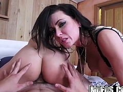 Jade Nile and Jessica Jaymes - Babysitter MILF Threesome - B