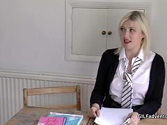 blonde student gets spanked from her much older teacher before rimming