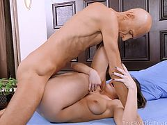 Talented cutie goes down to take a huge cock of her naughty coach deep into her throat. Sure, this is not enough for the hottie and she demands wilder games.