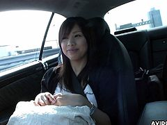 A very cute teen Karin is in the car and she is blowing on that dick with her full set of lips. The session is so damn hot that she had to be fingered so that she calms down.
