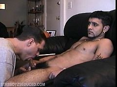 Straight boy Franco just got out of prison, and calls me after a recent near-death experience to arrange for a session. Franco strips down and gives in to some old-fashioned stroke and blow, and just when hes as hard as he can be I pull out my dick to join the party. After a little cock fighting I put his hand on my dick and he starts to jerk me off. It feels so damn good that soon were making each other bust our nuts. Is it really that easy Sometimes