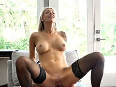 Ample breasted tattooed milf Synthia Fixx gets messy facial