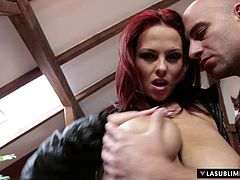 Lasublimexxx - Busty redhead Dominno gets her pussy drilled