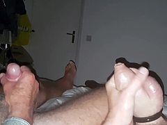 Hairy dad and his chubby boy (nice cocks) part1
