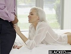 BLACKED Preppy Blonde Girlfriend Kacey Jordan Cheats with BBC