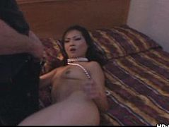 Hot brunette Asian tight pussy gets rammed