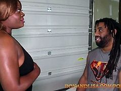 SuperHot : Don Whoe and Lisa Rivera get it on in the garage.