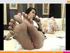 very great asian feet soles on CAM