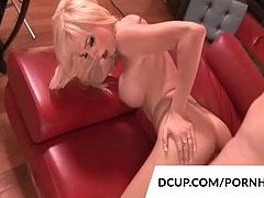 Busty Blonde Morgan Layne Rides Dick